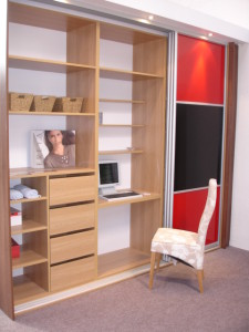 Bookcase and desk