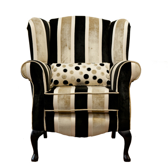 Striped Queen Anne Chair